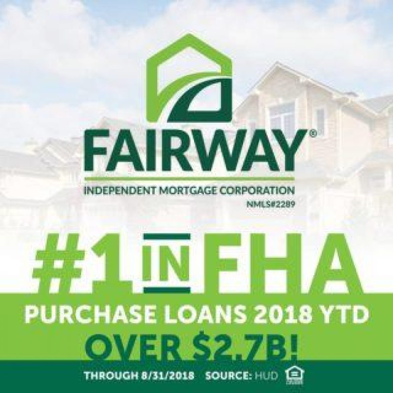 Fairway is the nation's #1 FHA purchase lender in 2018