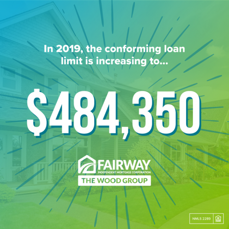 Mortgage Loan Limits for 2019 - $484,350